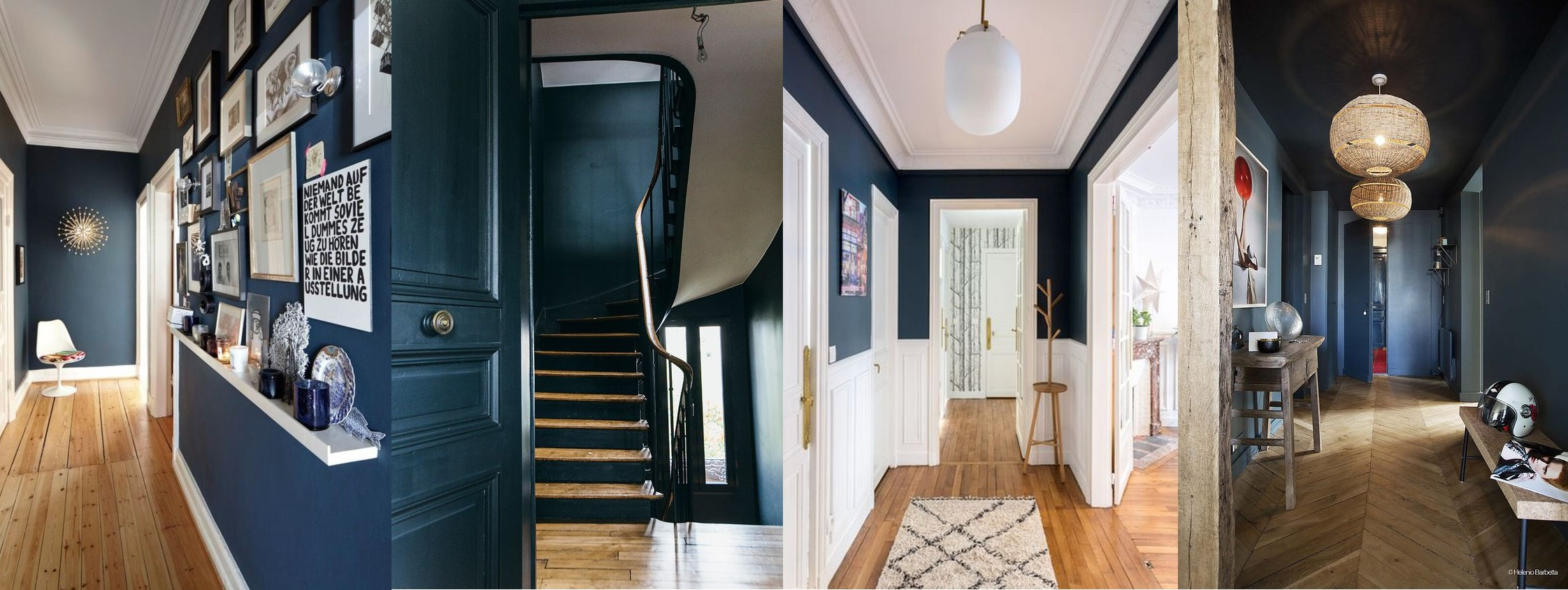 Bleu intense [Couloir, escalier]
