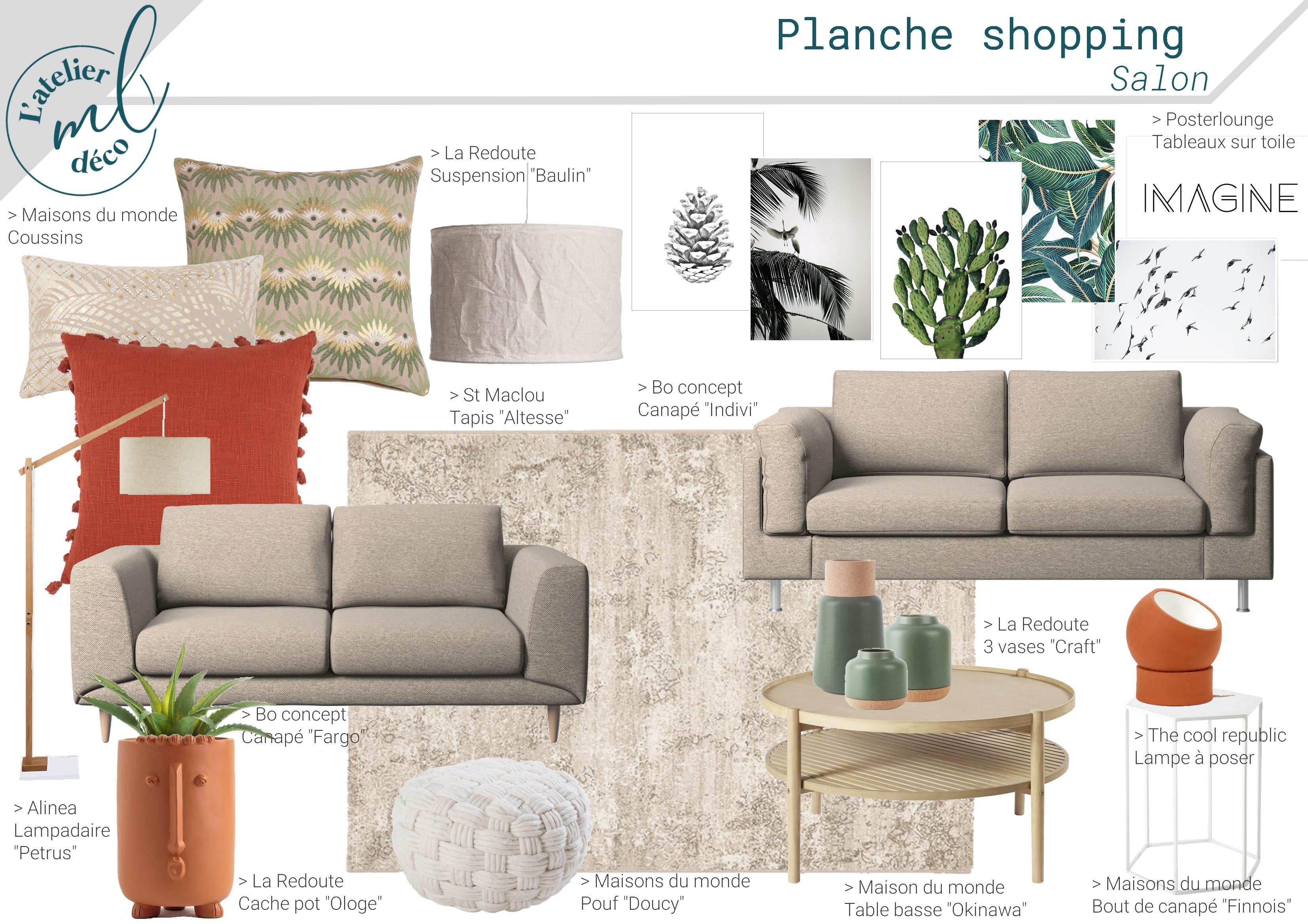 Planche shopping - Salon